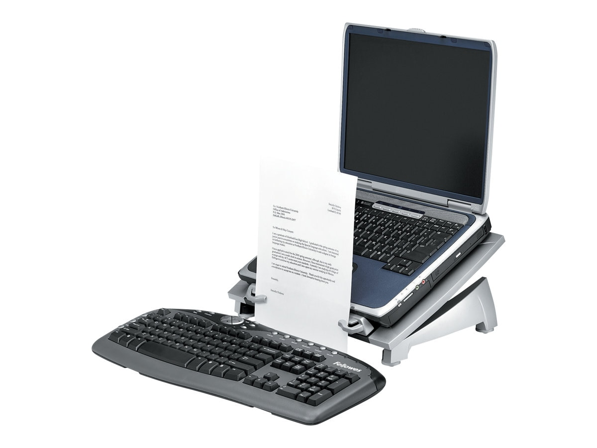 Fellowes Office Suites Laptop Riser Plus with Copyholder, 8036701, 7424244, Ergonomic Products