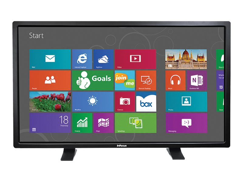 InFocus 57 BigTouch Touchscreen Display with Table Stand, Black, INF5711, 18397755, Monitors - Large-Format LED-LCD