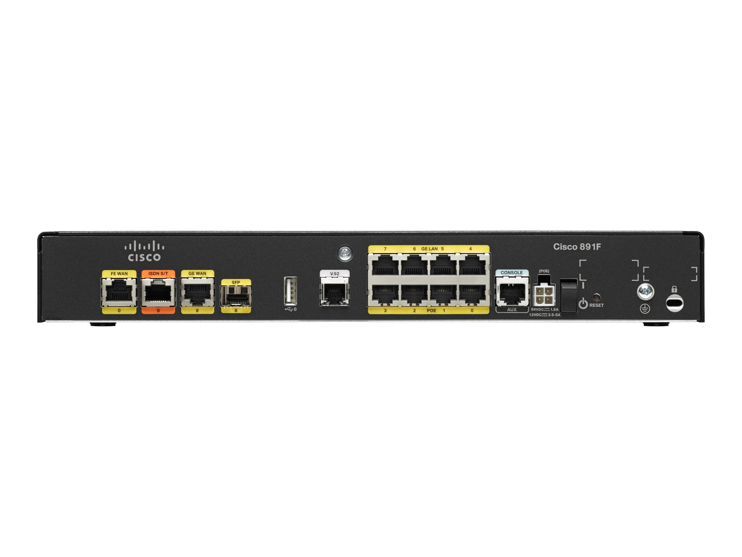 Cisco 891F 8-Port GbE ISDN Router Switch, C891F-K9