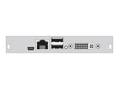 Black Box CATx DVI-I and USB HID DKM HD Video and Peripheral Matrix Switch Receiver Interface Card, ACX1MR-VDHID-C