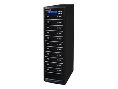 Vinpower ECON Blu-ray DVD CD 1:11 Tower Duplicator w  Hard Drive, ECON-S11T-BD-BK, 15128218, Disc Duplicators
