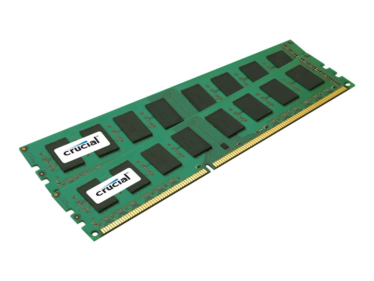 Crucial 8GB PC3-12800 240-pin DDR3 SDRAM DIMM Kit, CT2KIT51264BA160B, 14493432, Memory