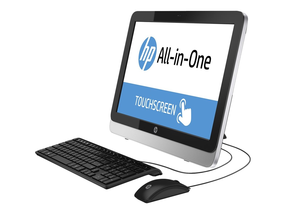 HP 22-3010 AIO AMD E1-6015 4GB 1TB DVDRW WL 21.5 W8.1, L9K77AA#ABA, 23103731, Desktops - All-in-One