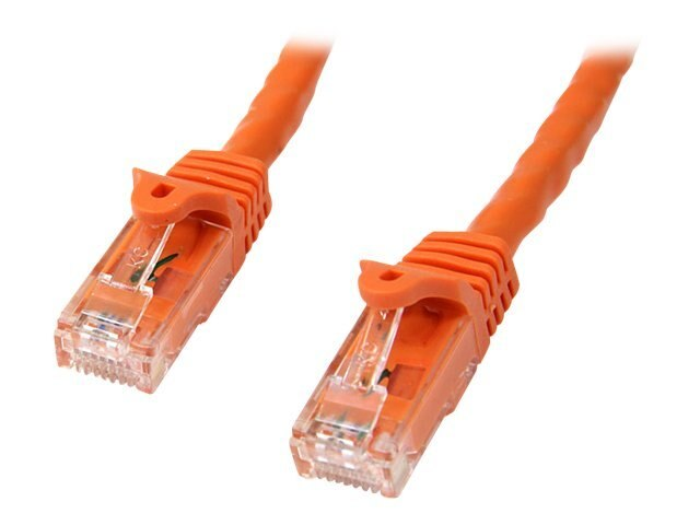 StarTech.com Cat6 Snagless Patch Cable, Orange, 7ft, N6PATCH7OR, 11602162, Cables