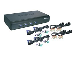 TRENDnet 4-Port USB PS2 KVM Switch w  Audio, TK-423K, 8605354, KVM Switches