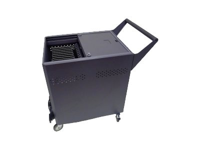 Datamation 24-Tablet Sync and Charge Security Cart, DS-GR-T-S24-SC, 16940953, Computer Carts