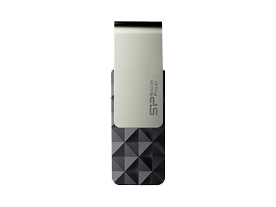Silicon Power 16GB Blaze B30 USB 3.0 Flash Drive, Black