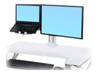 Ergotron WorkFit LCD & Laptop Kit, White