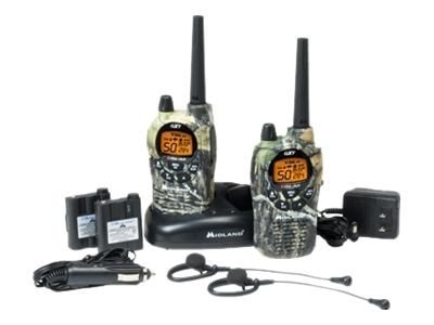 Midland Radio GMRS 50-Channel SOS Weather Scan 2-Way Radio, GXT1050VP4