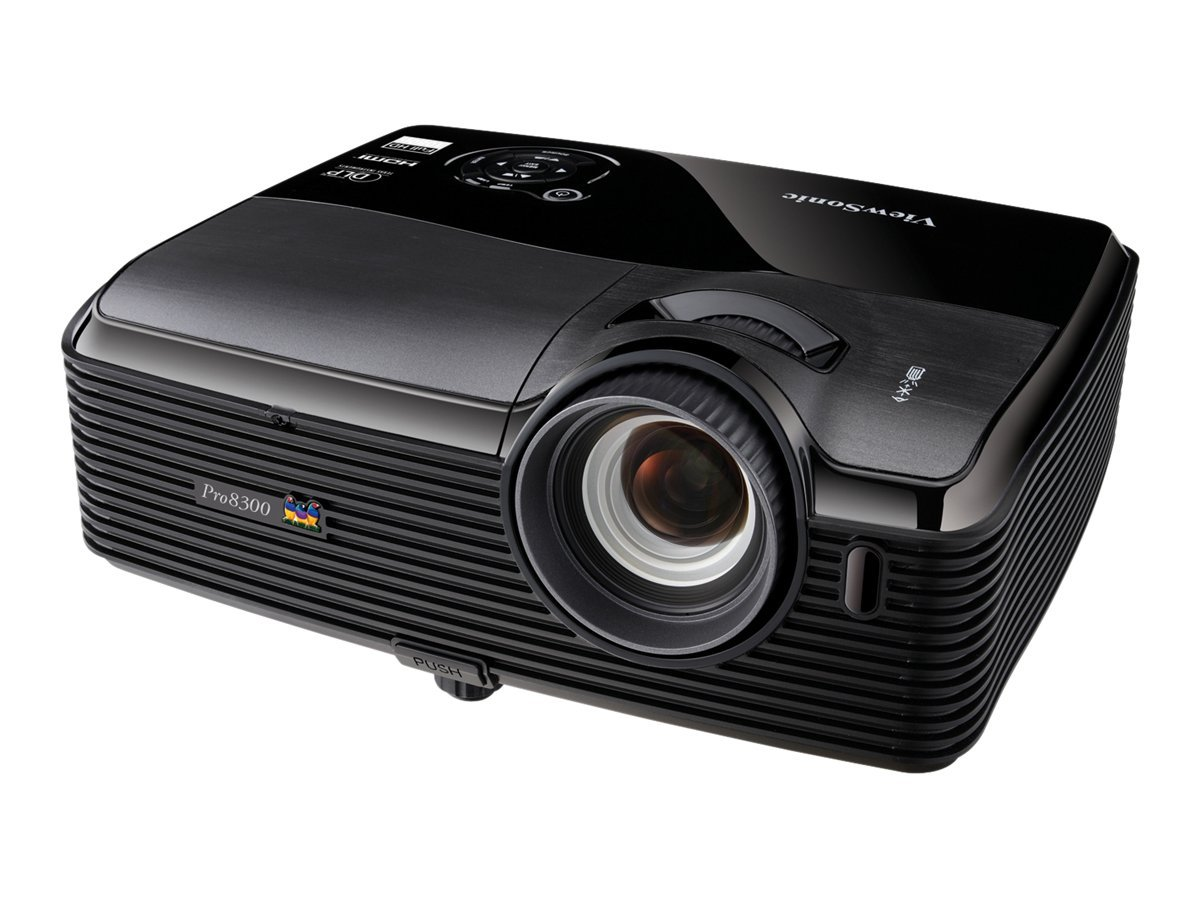 ViewSonic Pro8300 Full HD DLP Projector, 3000 Lumens, Black