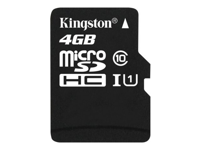 Kingston 4GB microSDHC Class 10 Flash Card, SDC10/4GB, 12841376, Memory - Flash