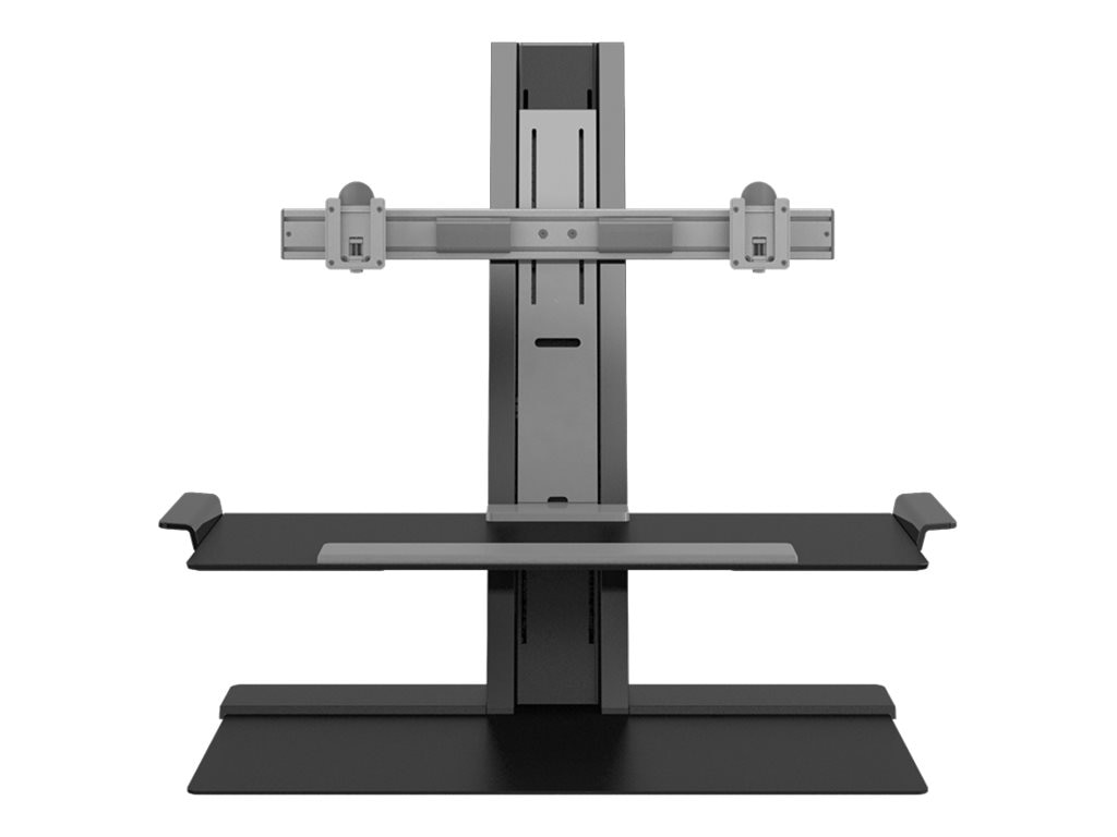 Humanscale QuickStand with Dual Display Support, 24 Crossbar, Adjustable Sit-Stand Workstation, QSBC24FDD