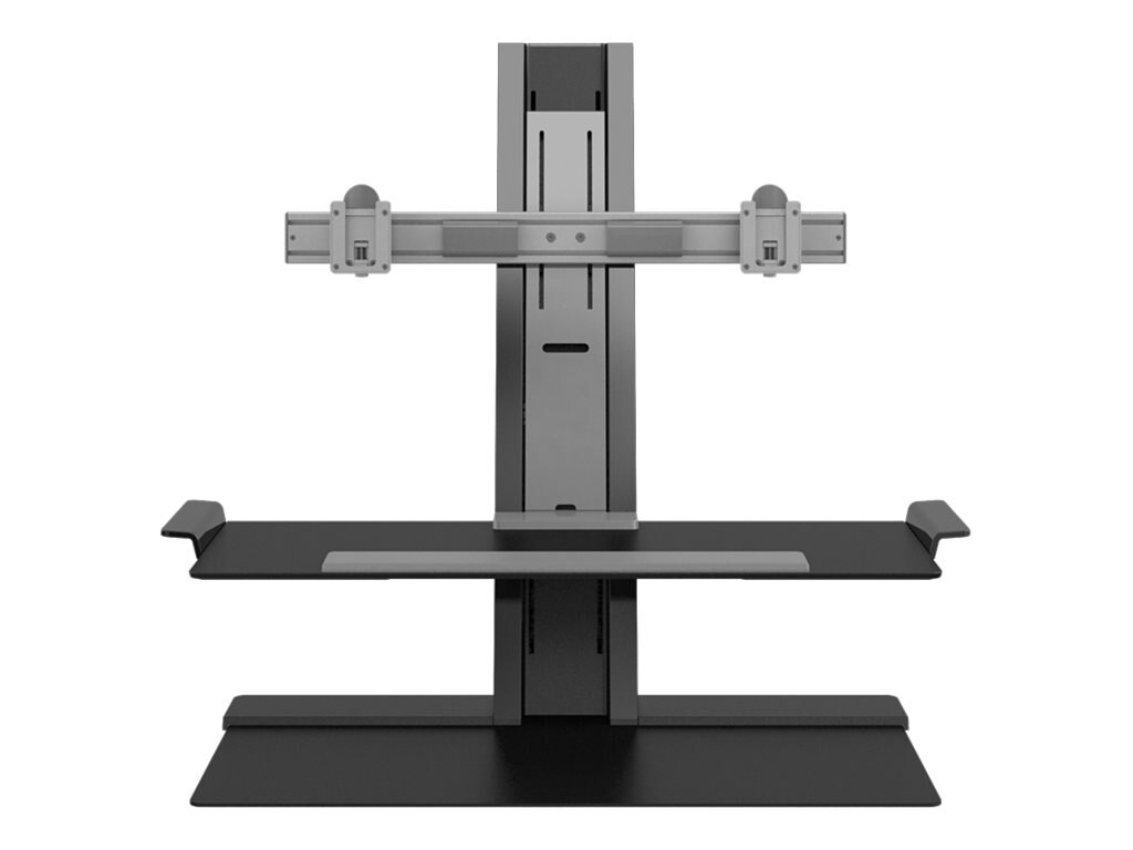 Humanscale QuickStand with Dual Display Support, 24 Crossbar, Adjustable Sit-Stand Workstation