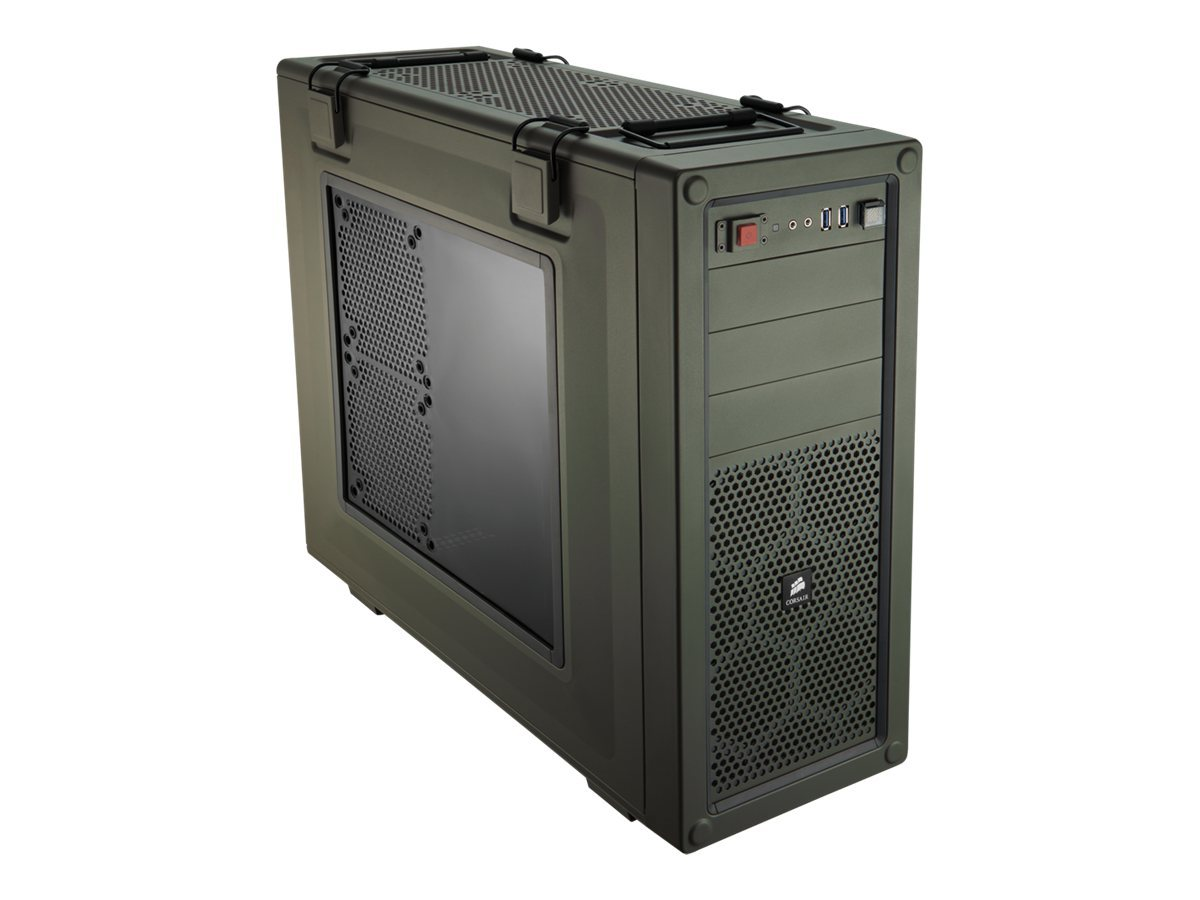 Corsair Chassis, Vengeance Series C70 High Airflow Mid Tower, ATX, 3x5.25, 6x2.5 3.5, 8xSlots, Green