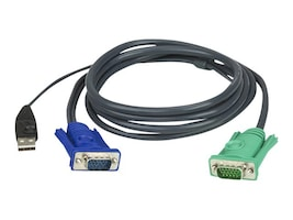 Aten PS 2 to USB Intelligent KVM Cable 10ft, 2L5203U, 5881265, Cables