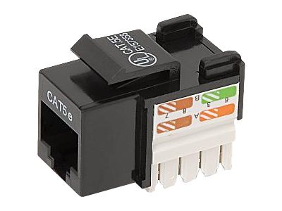 Belkin Cat5e Keystone Jack, 568A 568B, Black, 25-Pack, R6D024-AB5E-25, 7630179, Premise Wiring Equipment
