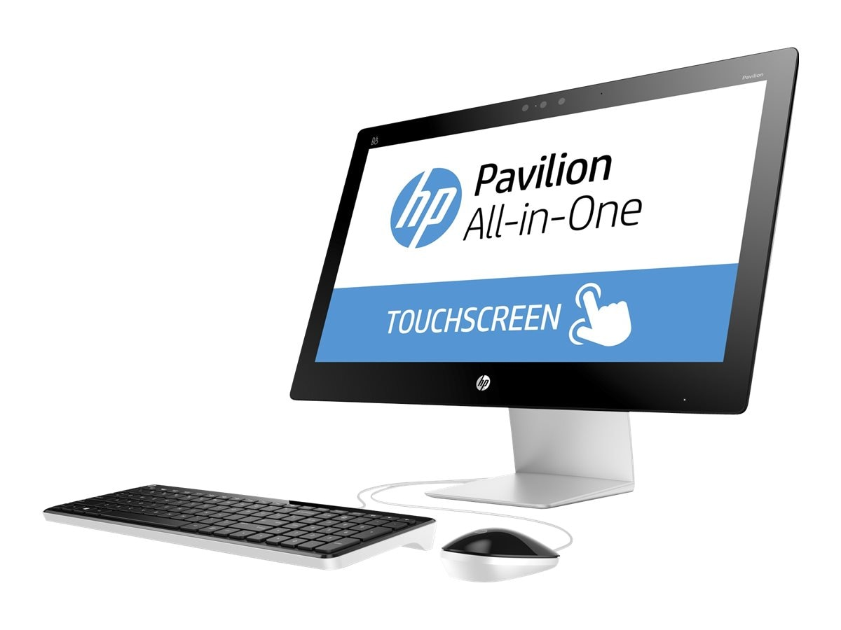 HP Pavilion 23-q120 AIO Core i3-4170T 3.2GHz 4GB 1TB DVD SM GbE ac BT WC 23 FHD MT W10H, M9Z62AA#ABA, 30785806, Desktops - All-in-One