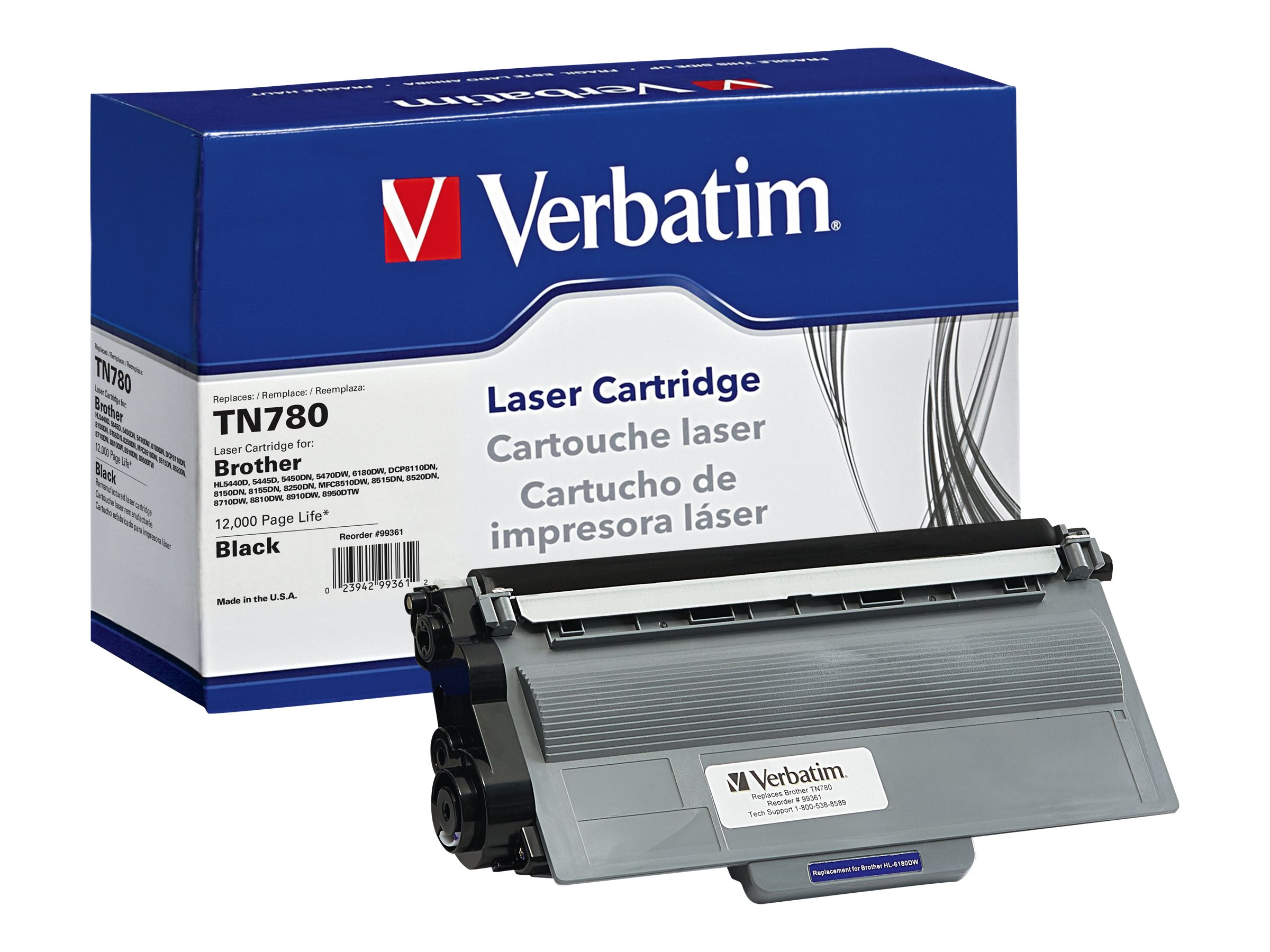 Verbatim TN780 Toner Cartridge for Brother, 99361
