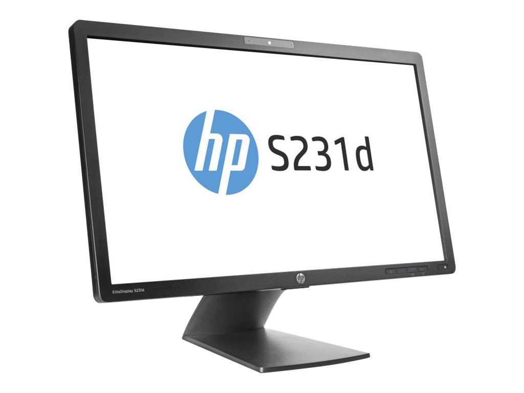 HP 23 S231d Full HD LED-LCD Docking Monitor with Webcam, Black, F3J72A8#ABA