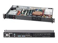 Supermicro Chassis UP Mini 1U, 11.3, 2X 2.5 SAS SATA, 200W PSU, CSE-510T-200B, 9340802, Cases - Systems/Servers