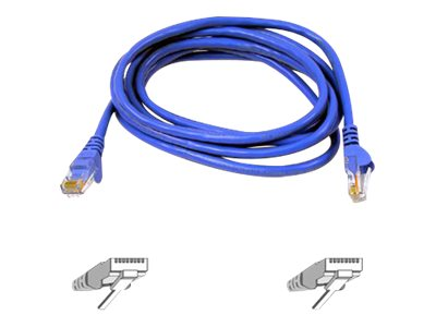 Belkin High Performance Cat6 UTP Snagless Patch Cable, Blue, 3ft, A3L980-03-BLU-S