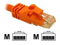 C2G Cat6 550MHz Snagless Crossover Cable, Orange, 25ft, 27895, 5715435, Cables