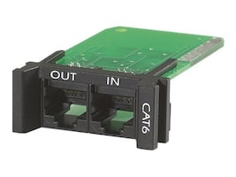 APC Surge Module for CAT6 or CAT5 5e Network Line, Replaceable, 1U, for use with PRM4 or PRM24 Chassis, PNETR6, 10915861, Surge Suppressors