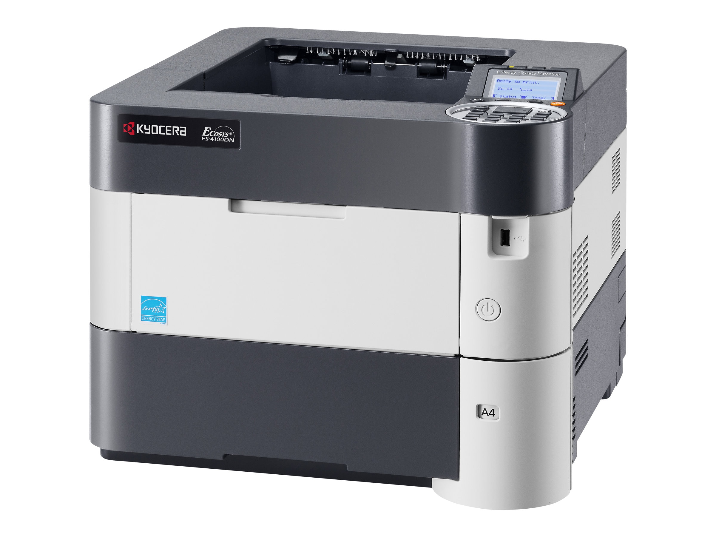 Kyocera FS-4100D Desktop B&W Printer
