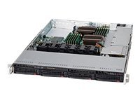 Supermicro SuperChassis 815TQ 1U RM (2x)Intel AMD 4x3.5 HS Bays 3xExpansion Slots 4xFans 600W, CSE-815TQ-600WB, 15274207, Cases - Systems/Servers