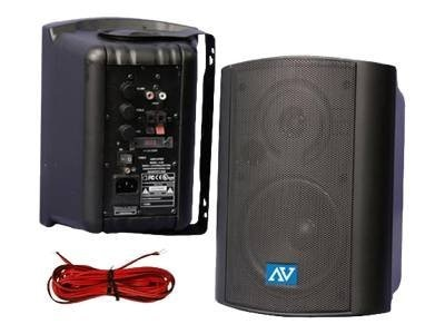 AmpliVox Powered Wall Mount Speakers with 30-Watt Amplifier, S1232, 12704347, Speakers - Audio
