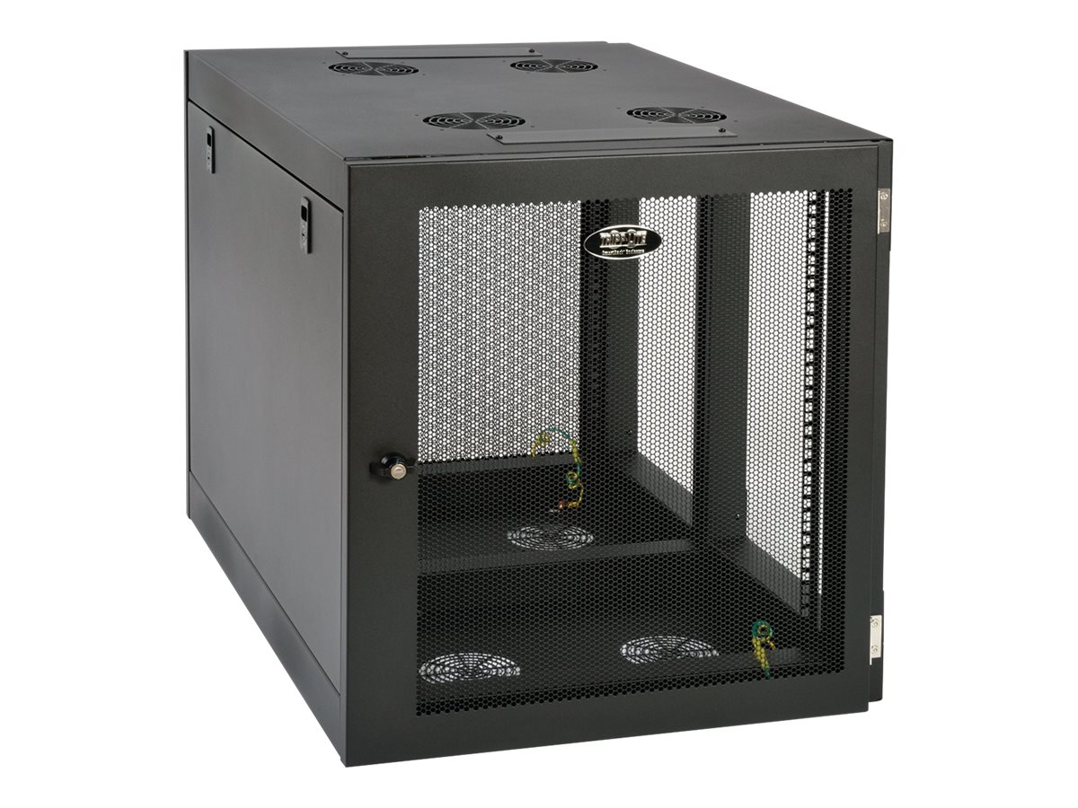 Tripp Lite SmartRack Heavy-Duty Side-Mount Wall-Mount Rack Enclosure Cabinet