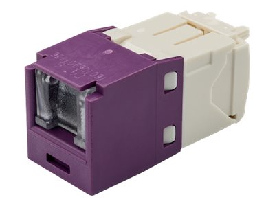 Panduit Cat6 RJ-45 8-position, 8-wire Spring Shuttered Universal Jack Module, Violet