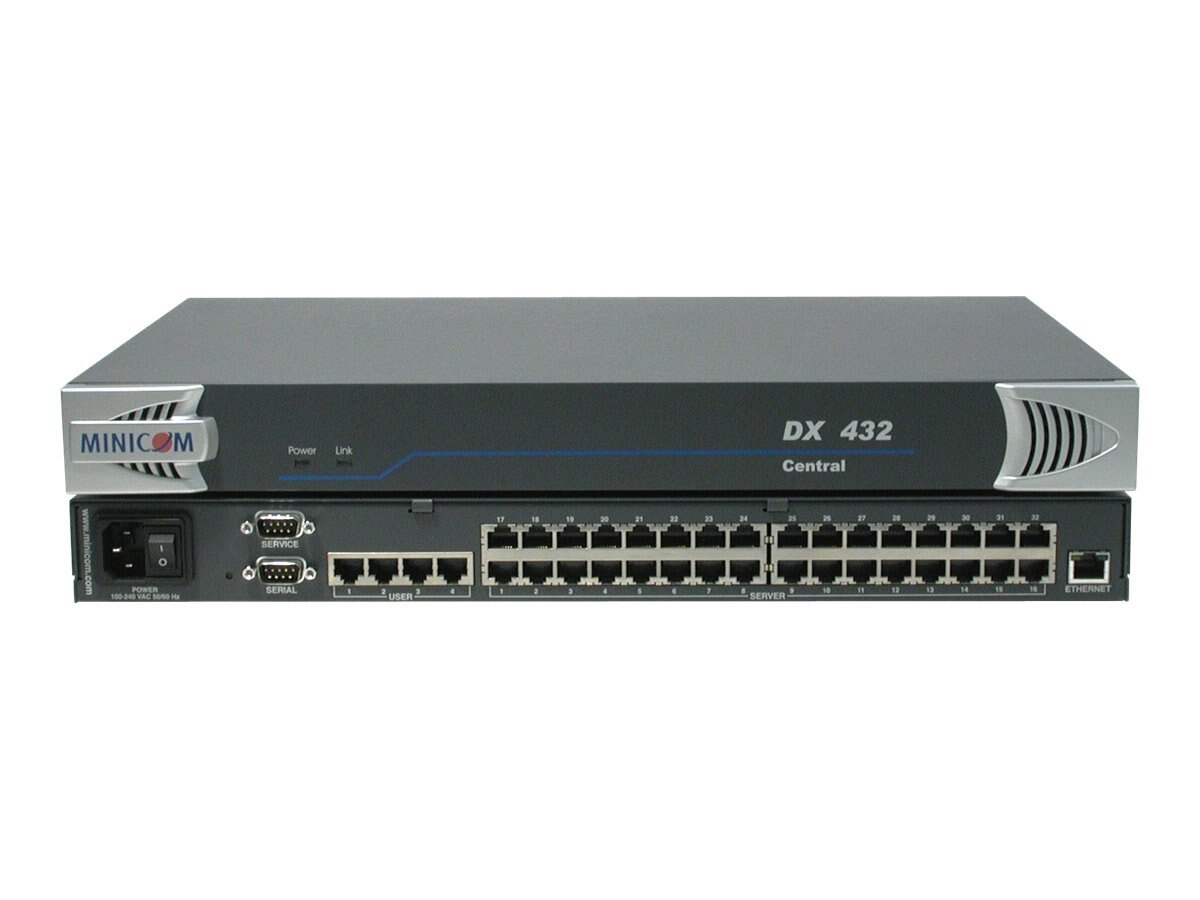 Minicom DX 432 Central KVM (4) Users (32) Ports, 0SU60002A, 8039831, KVM Switches