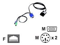 Lenovo Long KVM Conversion Option (4 Pack), 39M2897, 6335362, Cables