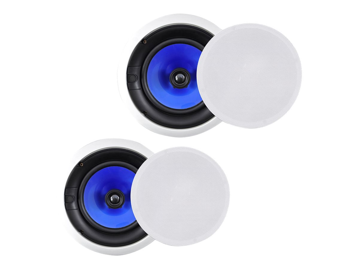 Pyle 250W In-Wall In-Ceiling High Dual 6.5 2-Way Speaker System, PIC6E