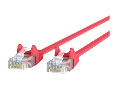 Belkin Cat6 UTP Patch Cable, Red, Snagless, 7ft, Bag and Label, A3L980B07-RED-S