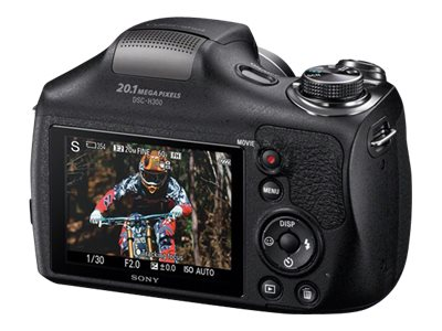 Sony Cyber-shot DSC-H300 Digital Camera, 20.1MP, 35x Zoom, Black, DSCH300/B