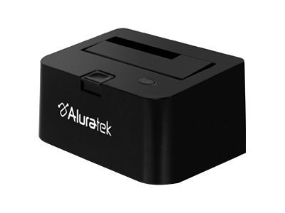 "Aluratek USB 2.0 2.5""   3.5"" SATA Hard Drive Docking Enclosure, AHDDU100F"