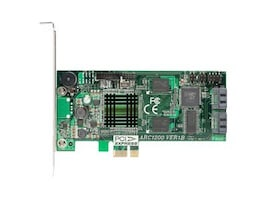 Areca Technology 2-Port PCI Express x1 to SATA RAID Controller, ARC1200, 8146021, RAID Controllers