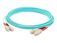 ACP-EP SC-SC OM3 Multimode LOMM Fiber Patch Cable, Aqua, 9m, ADD-SC-SC-9M5OM3