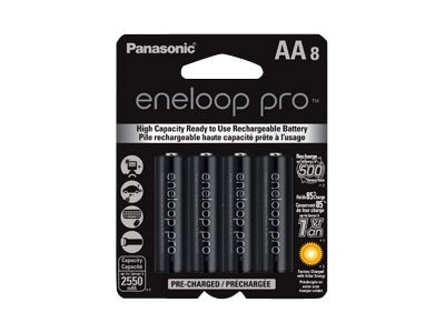Panasonic Eneloop Pro Gen Purpose Batteries (8-pack), BK-3HCCA8BA