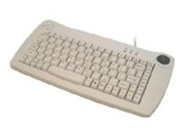 Adesso Mini Trackball PS 2 Keyboard, ACK-5010PW, 4900461, Keyboard/Mouse Combinations