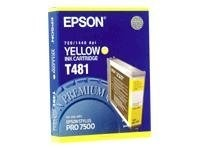 Epson Stylus Pro 7500 Ink Cartridge - Yellow, T481011, 194000, Ink Cartridges & Ink Refill Kits