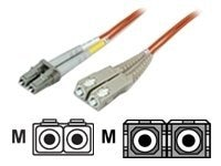 Manhattan LC-SC 50 125 OM2 Multimode Duplex Fiber Cable, 3m