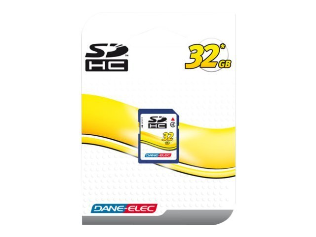 Dane Electronics 32GB SD Card, Class 4, DA-SD-32GB-R, 13532241, Memory - Flash
