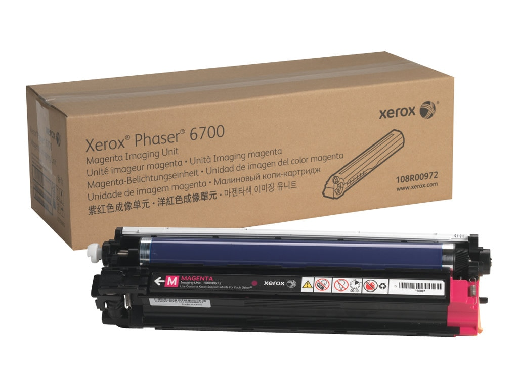 Xerox Magenta Imaging Unit for Phaser 6700 Series Printers, 108R00972, 16372431, Toner and Imaging Components