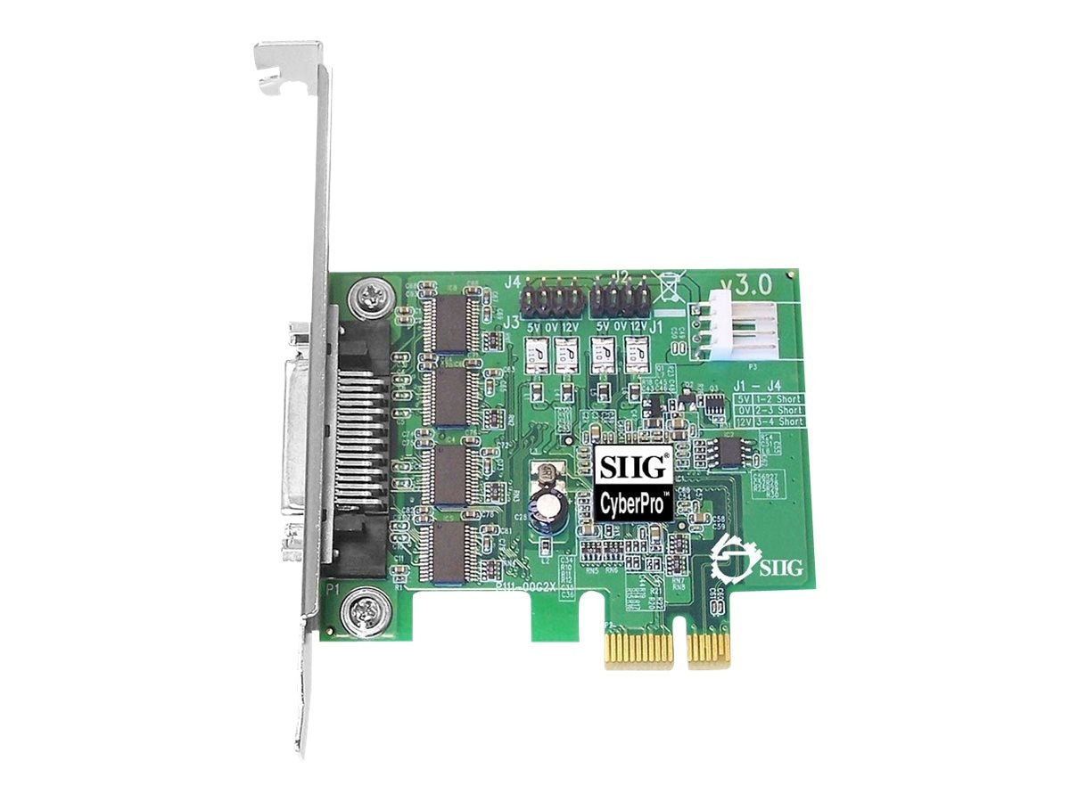 Siig 4-port DP CyberSerial 4S PCIe Serial Controller, JJ-E40011-S3