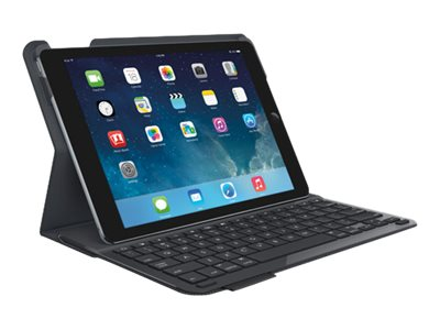 Logitech Type+ Keyboard Case for iPad Air, Carbon Black, 920-006909, 19908078, Keyboards & Keypads