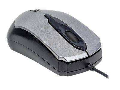 Manhattan USB Wired Mouse, Gray