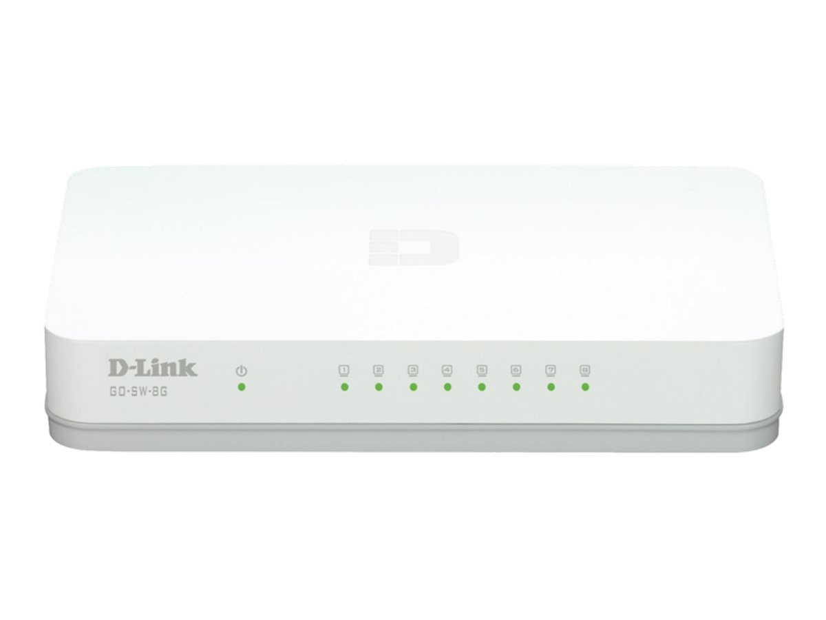 D-Link 8-Port Unmanaged Gigabit Switch, GO-SW-8G
